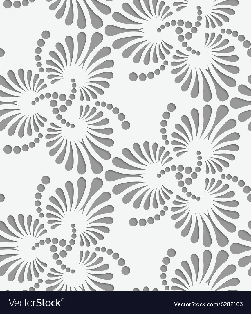Perforated flourish tear drops trefoils vector image