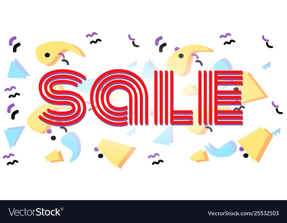Sale discounts business 80s eighties background