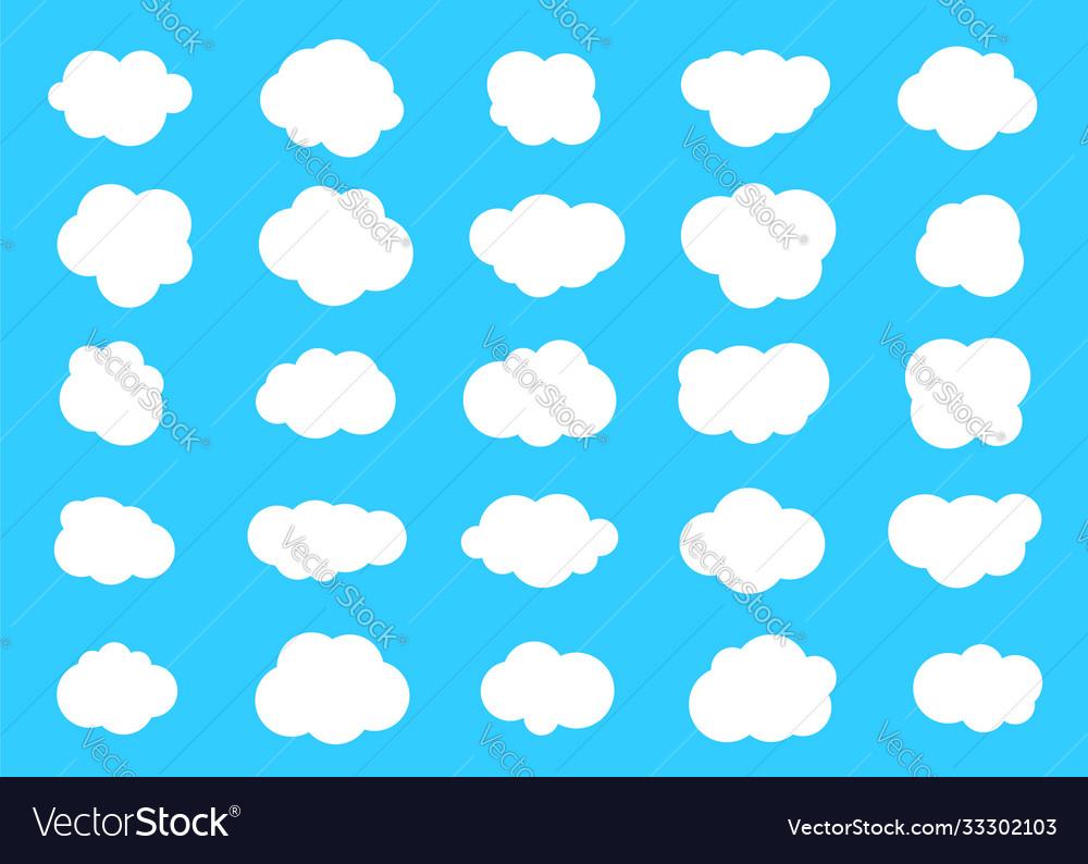Set clouds cloud icon
