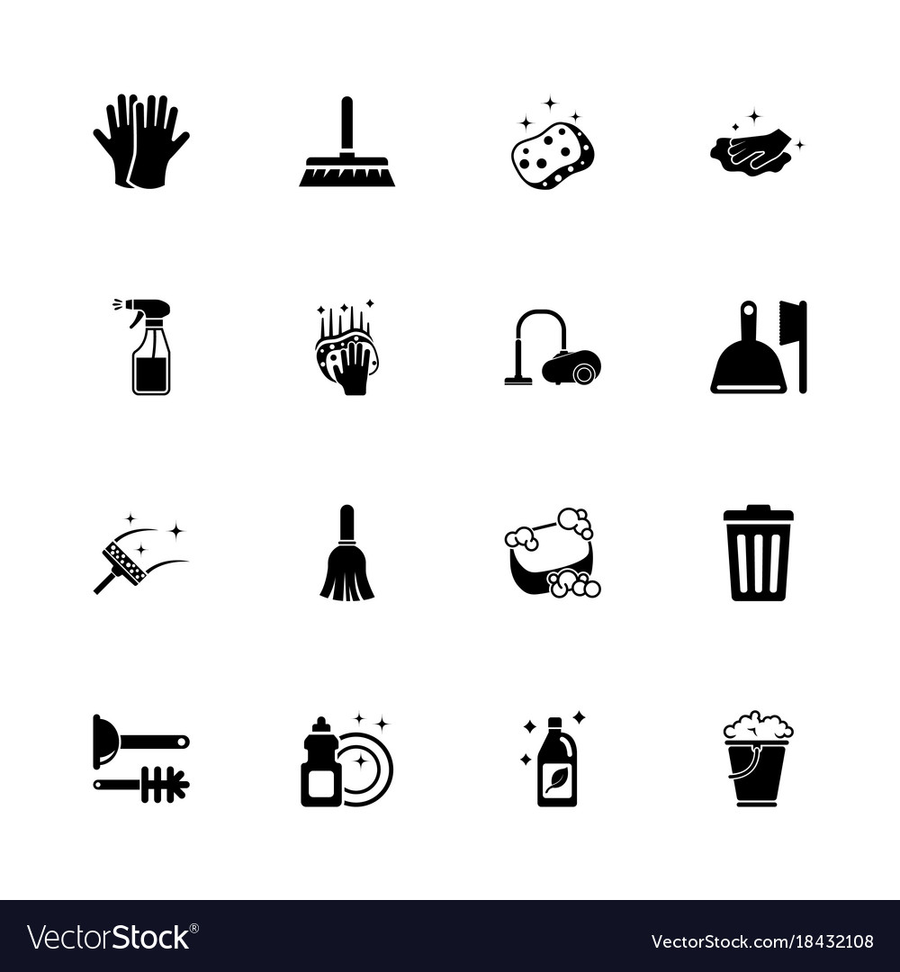 Cleaning - flat icons