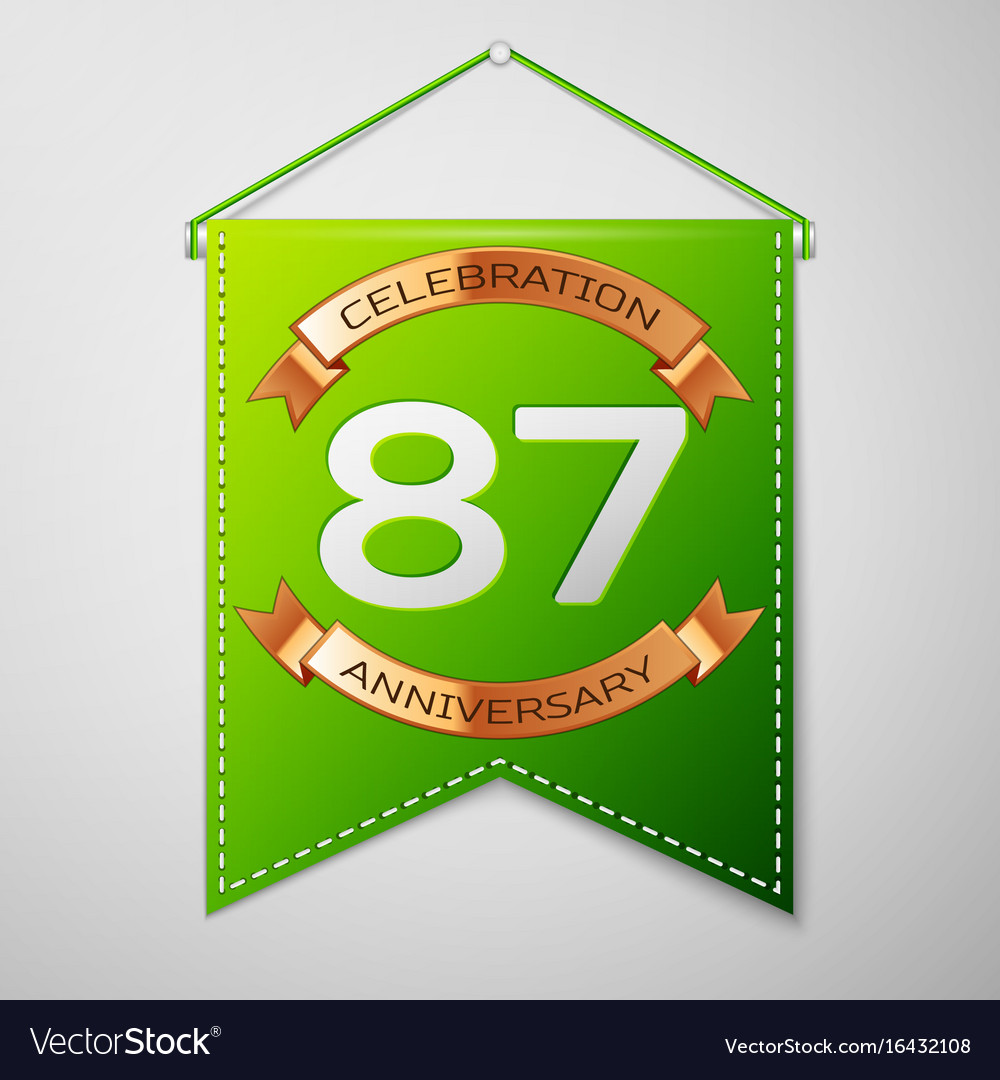 Eighty seven years anniversary celebration design vector image