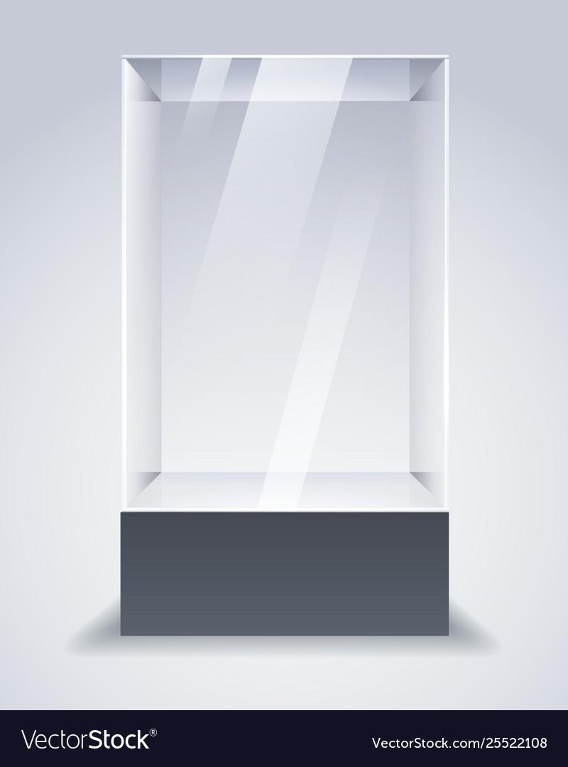 Empty glass cabinet