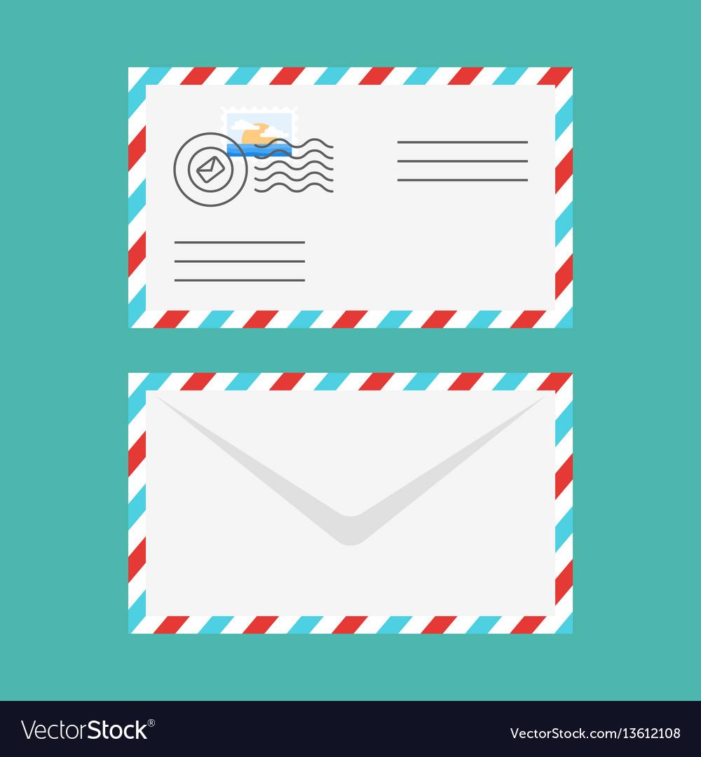 Flat style of postal envelope