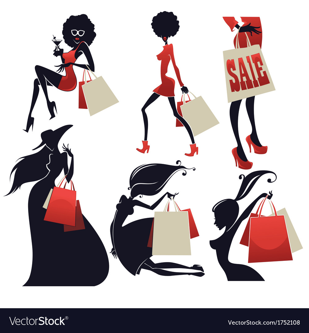 Girls and shopping bags