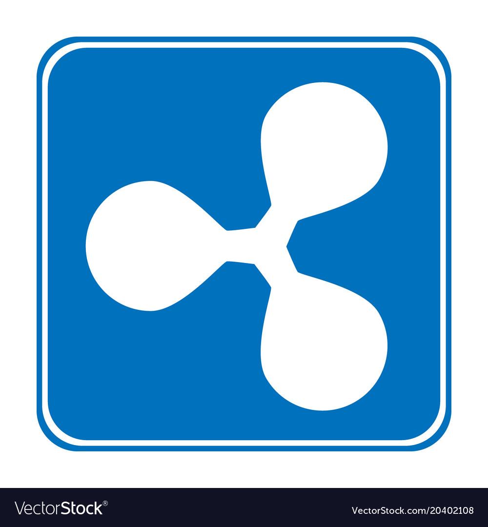 Ripple icon on white