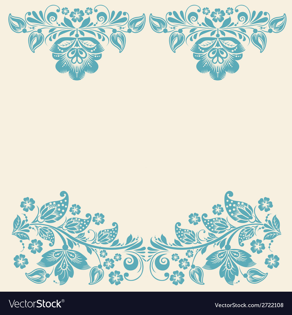 Russian ornaments art frames vector image