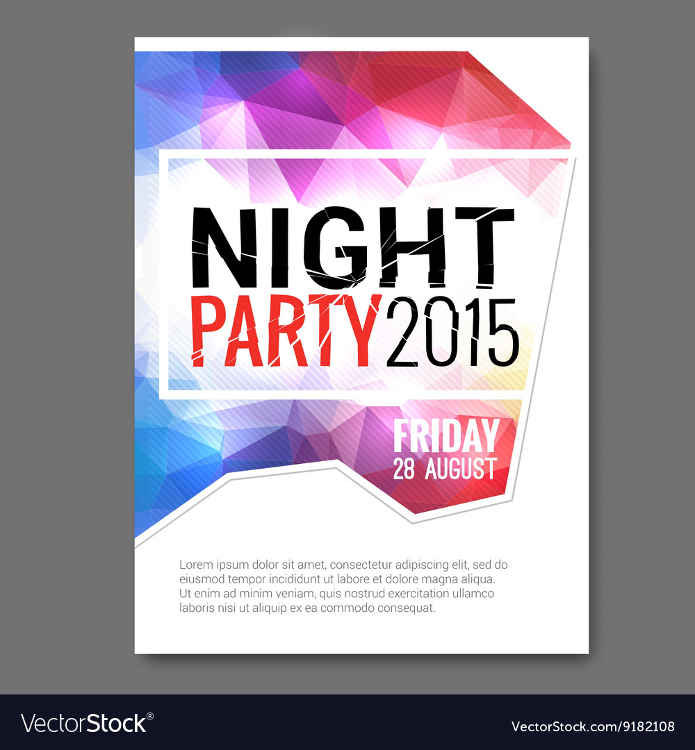 Summer Night Beach Party Flyer Template