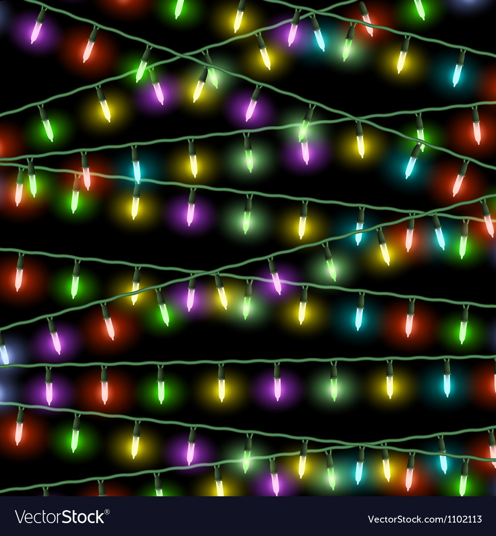 Christmas Lights Background.Christmas Lights On Black Background