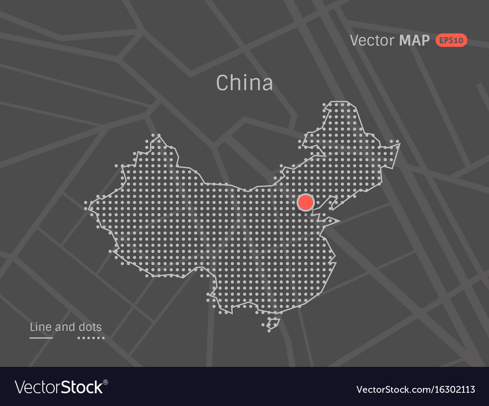 Dotted china map