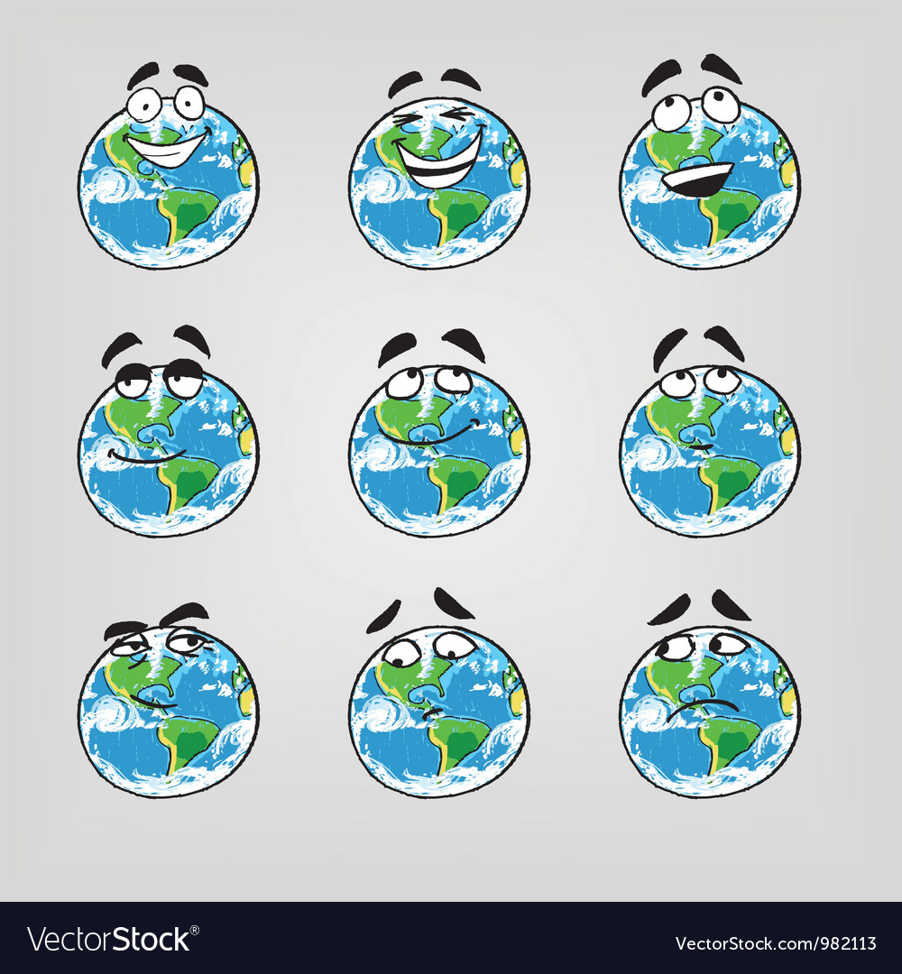 Earth emotions-part 1 vector image