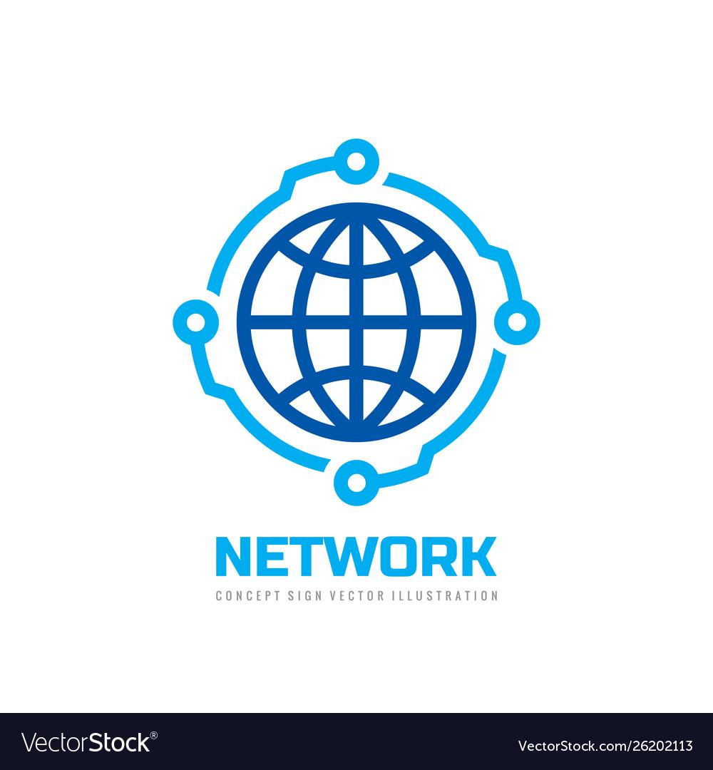 Global network - logo design technology co