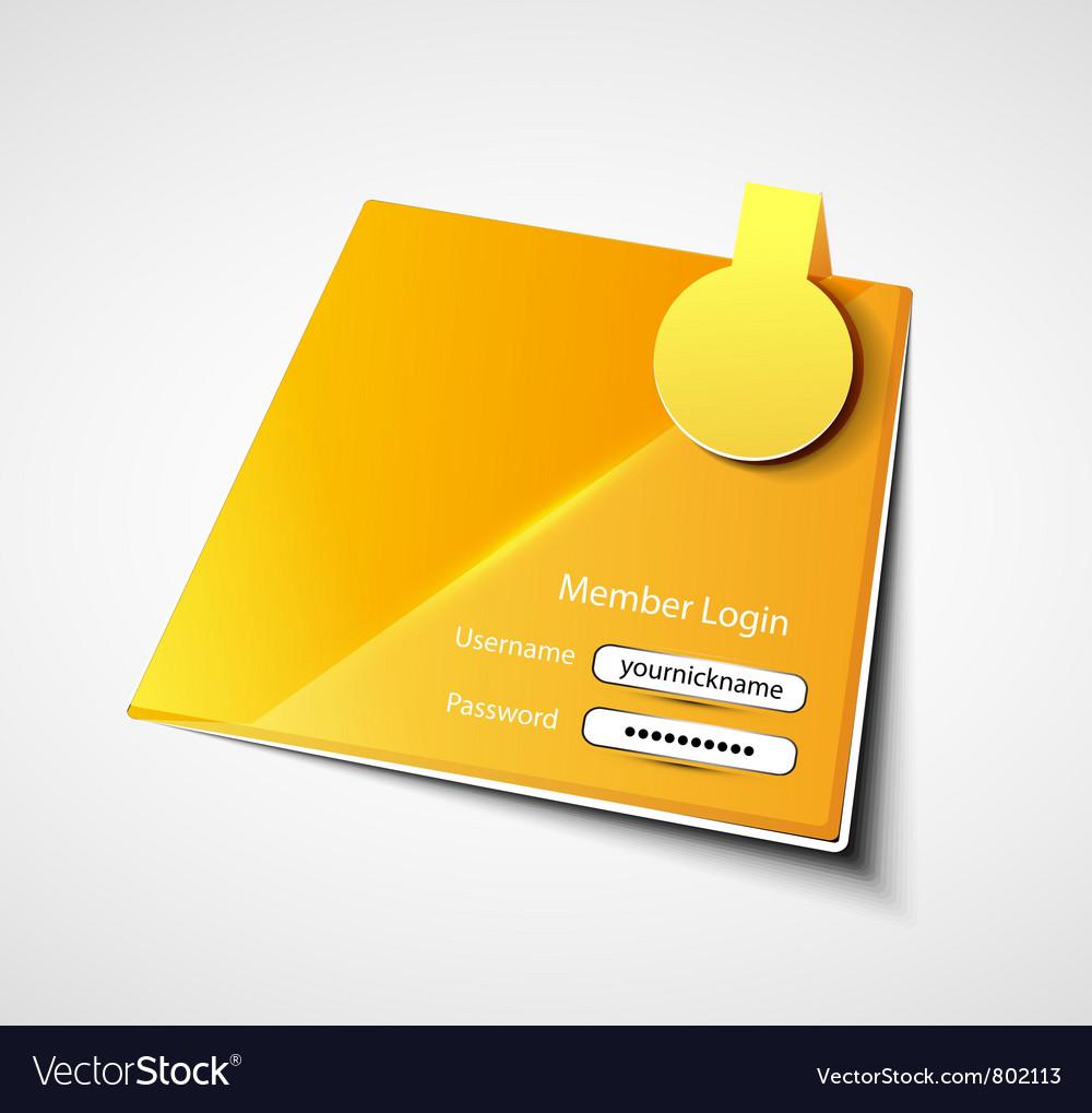 Login label background vector image