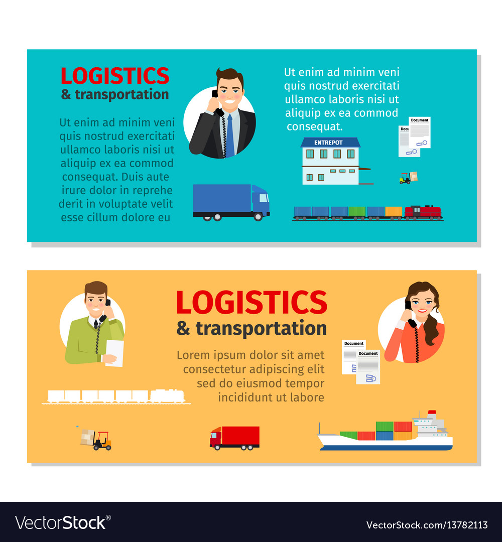 Logistics and transportation banners