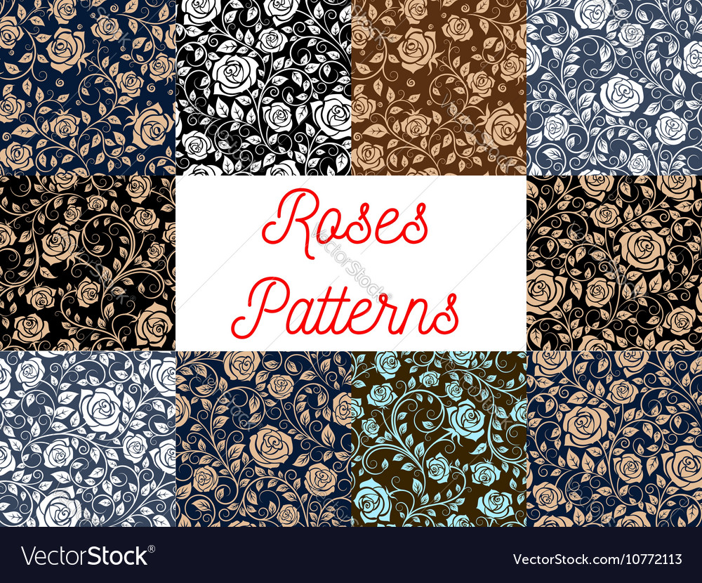 Roses seamless pattern backgrounds