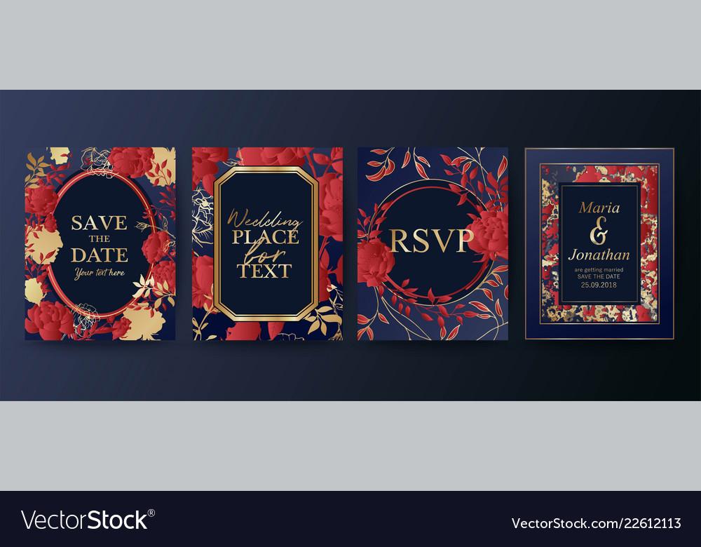 Set elegant brochure card background cover