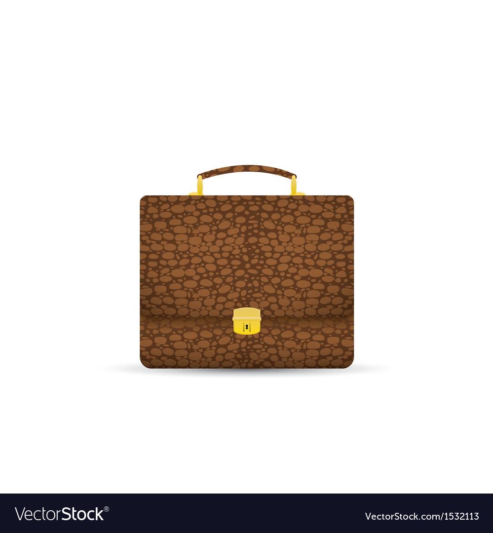 Suitcase isolated on white background vector image