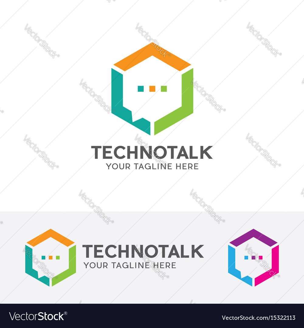 Technology talk logo vector image
