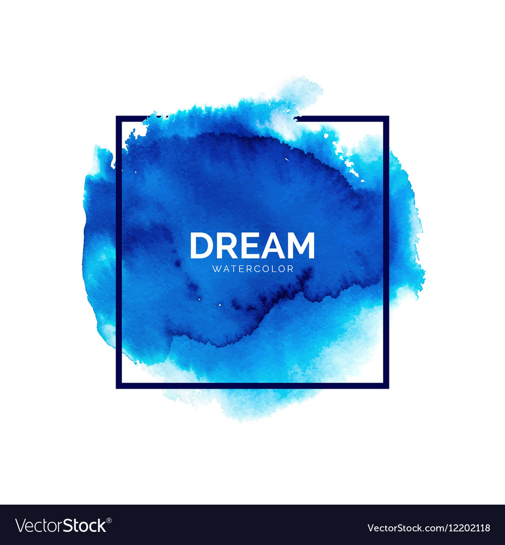 Abstract blue watercolor splash vector image