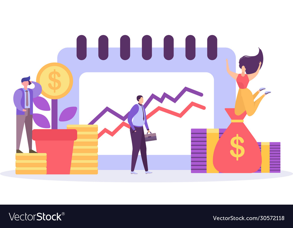 business growth planning and analytics business vector image  vectorstock
