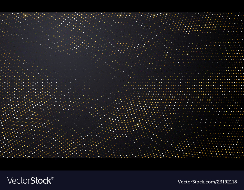 Gold and silver halftone black background golden