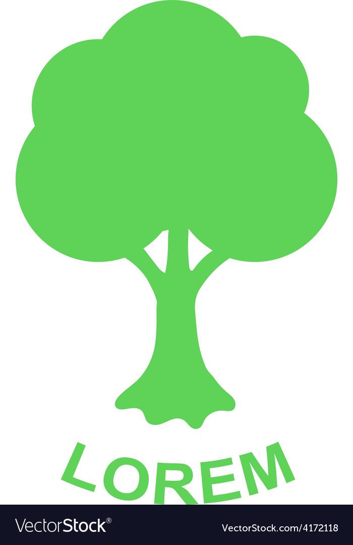 Green tree logo design template Plant