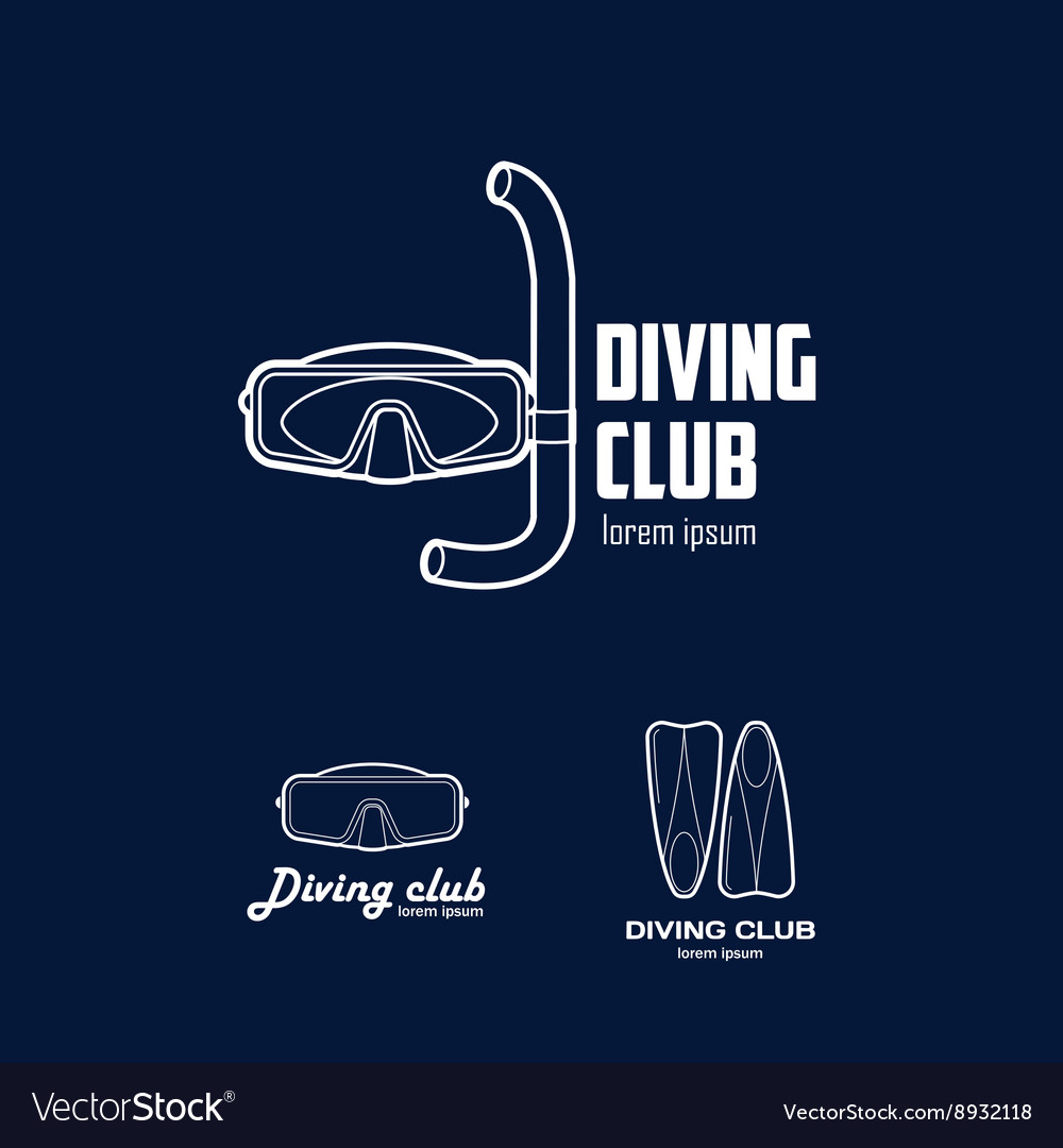 Set of logos for a diving club