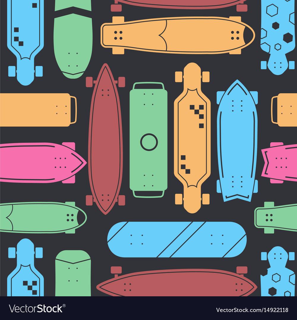 Skateboard seamless pattern background
