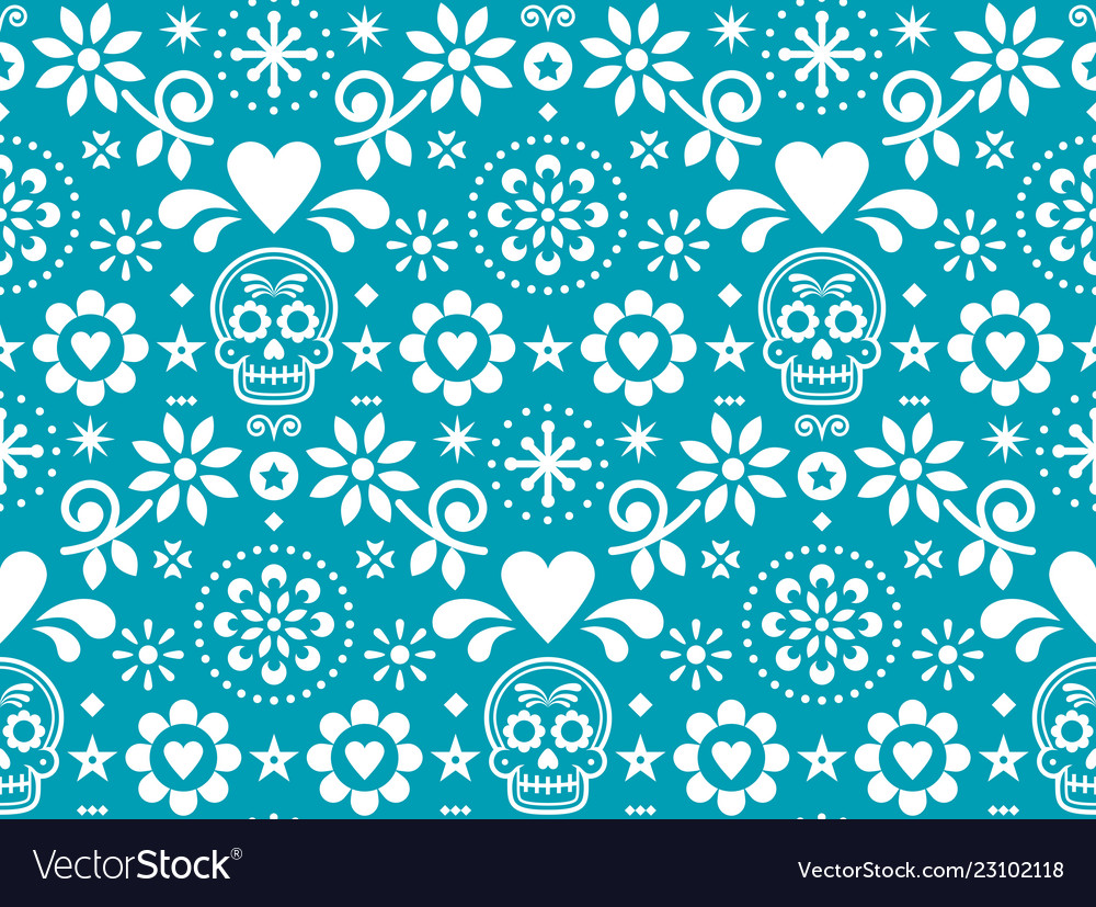 Sugar skull seamless pattern inspired by me