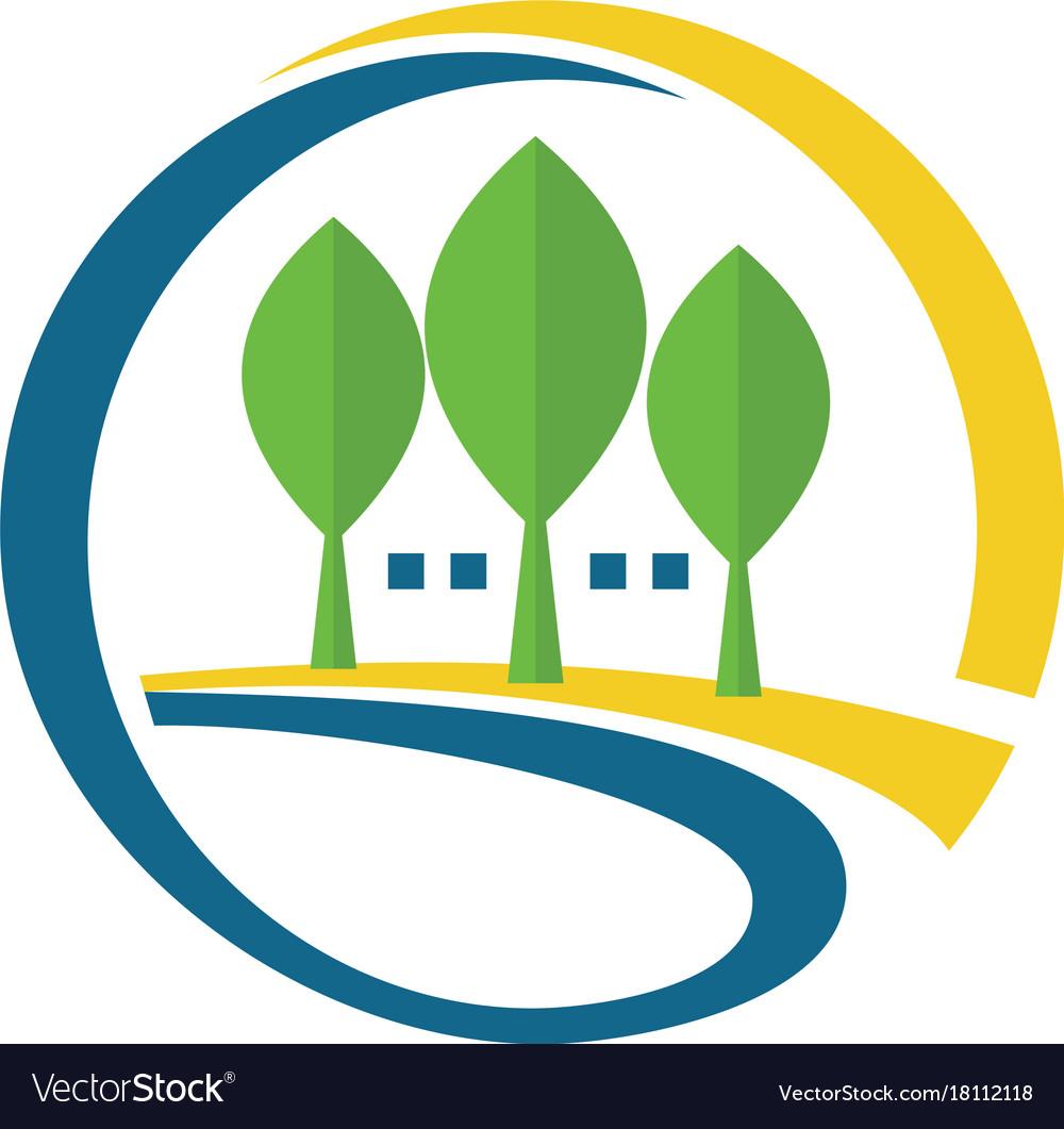 Tree letter g company logo