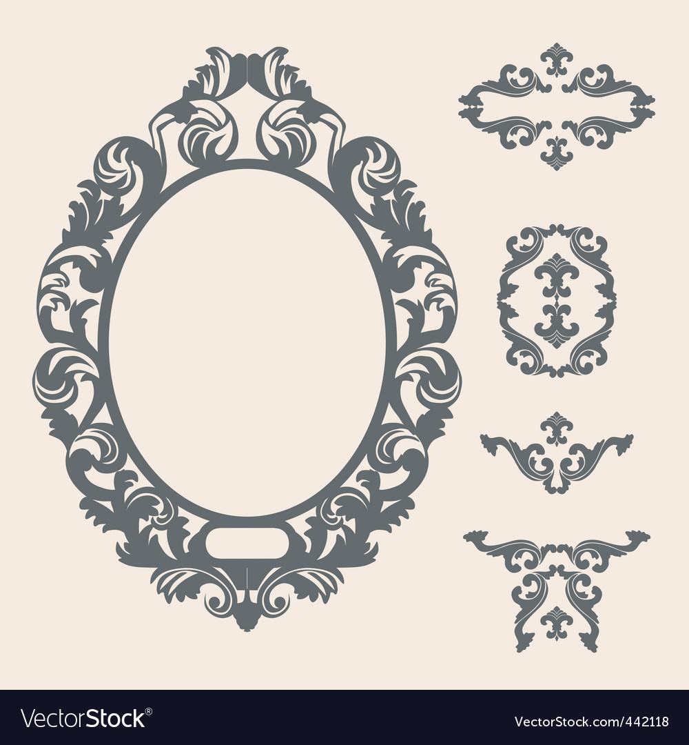 victorian frame royalty free vector image vectorstock rh vectorstock com victorian frame vector free victorian oval frame vector