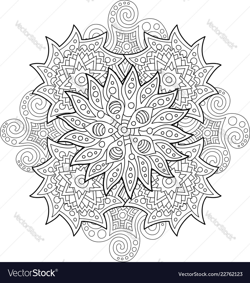 Abstract coloring book art on white background