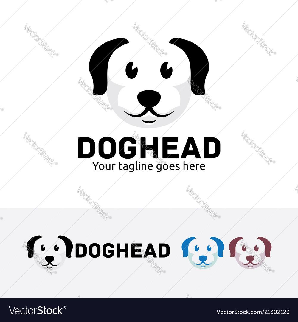 Dog head logo design