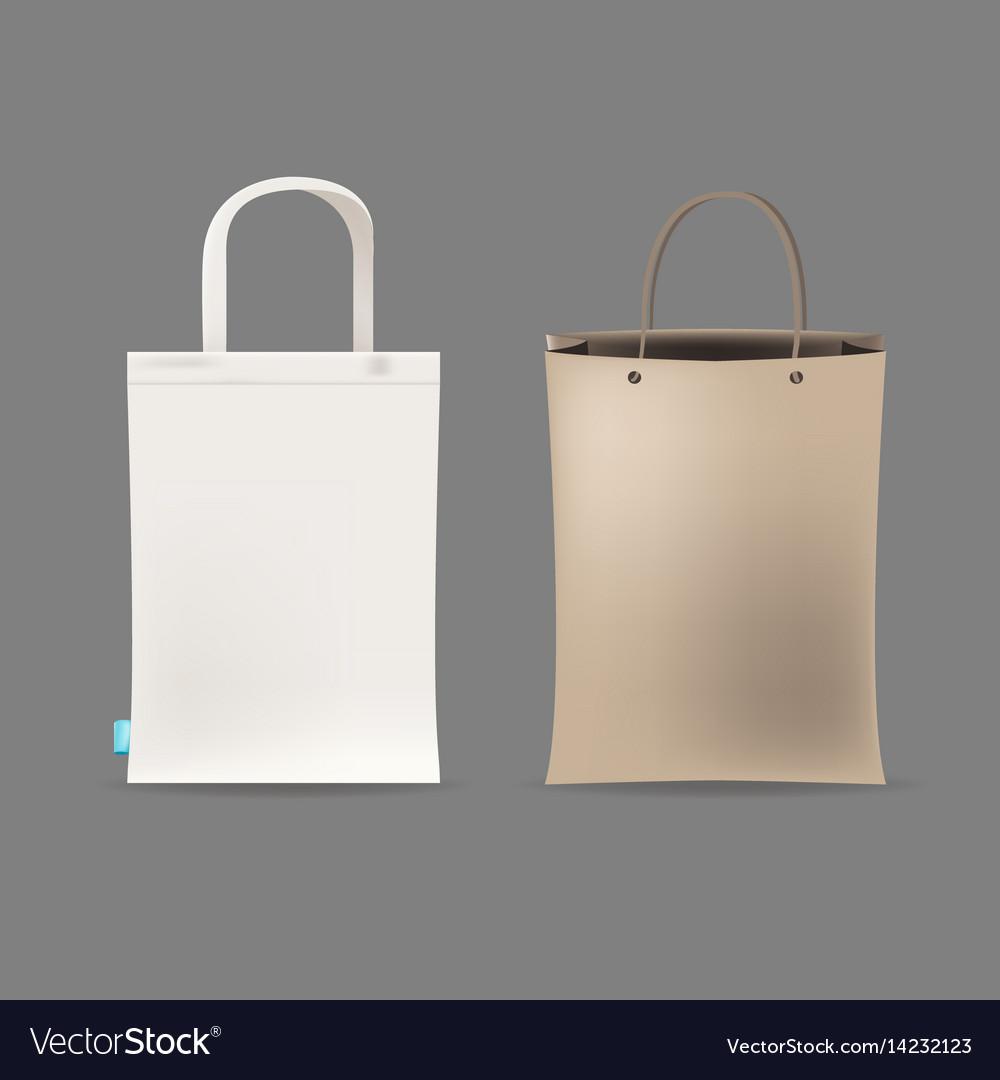 Empty shopping bag couple vector image