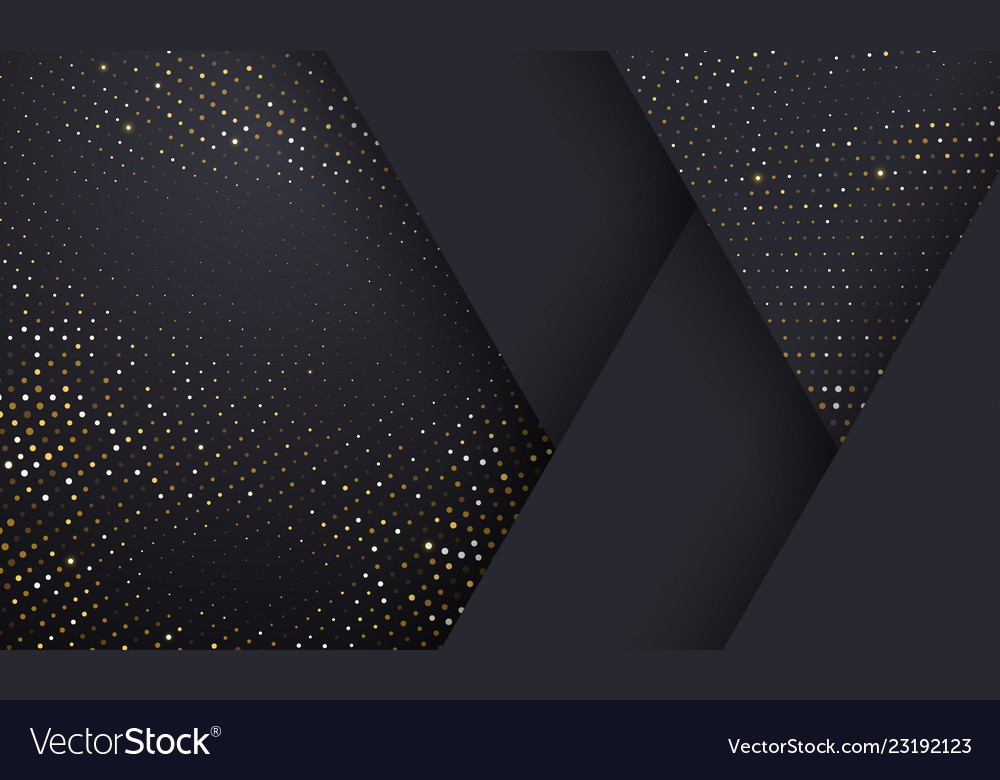 Gold and silver halftone pattern on geometric