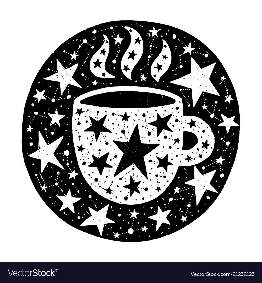 Hand drawn circle with stars