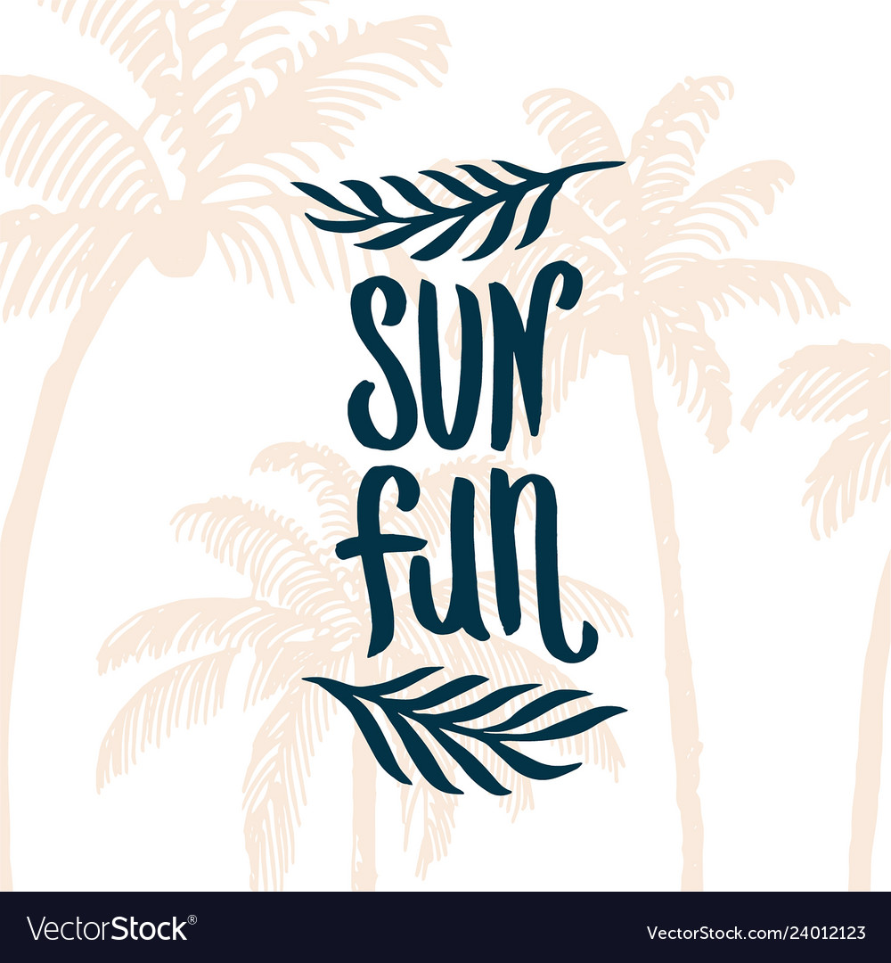 Hand drawn summer time quote lettering
