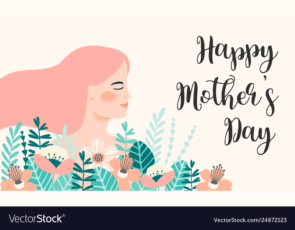 Happy mothers day with woman