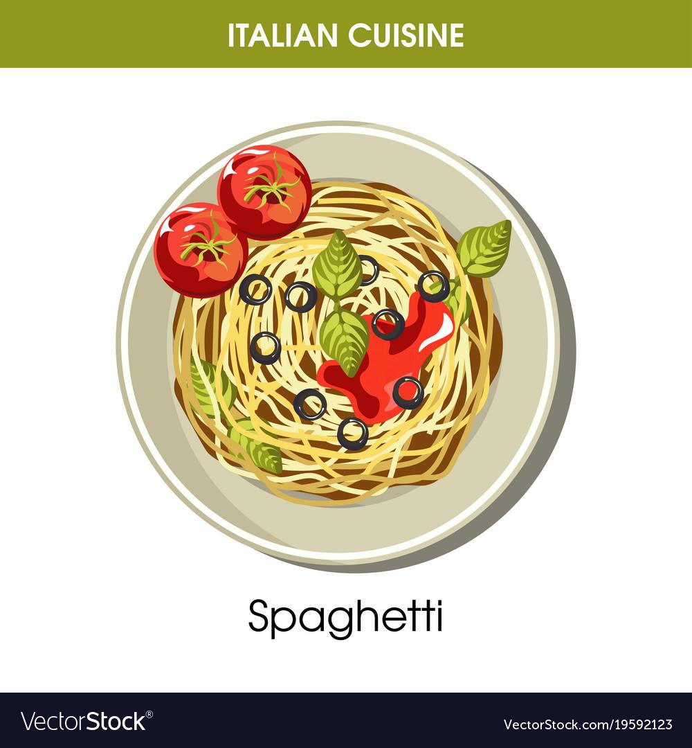 Italian cuisine spaghetti pasta icon for