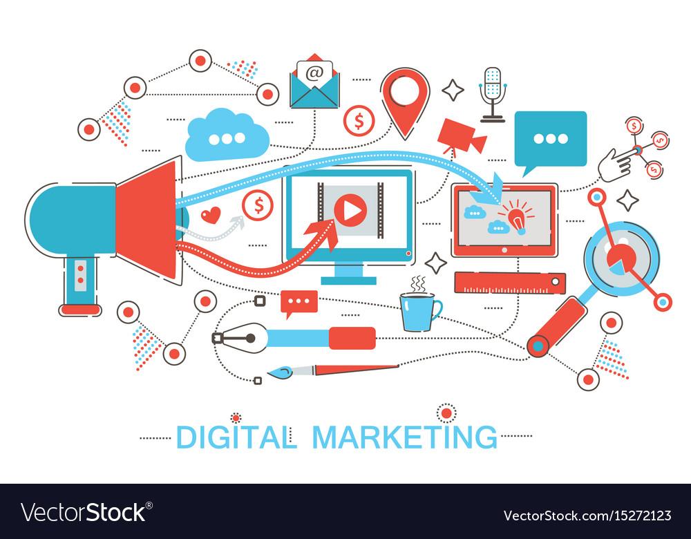 Online digital marketing and social network media