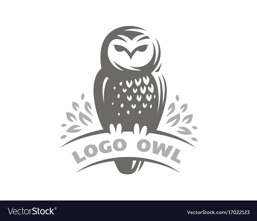 Owl logo - emblem design