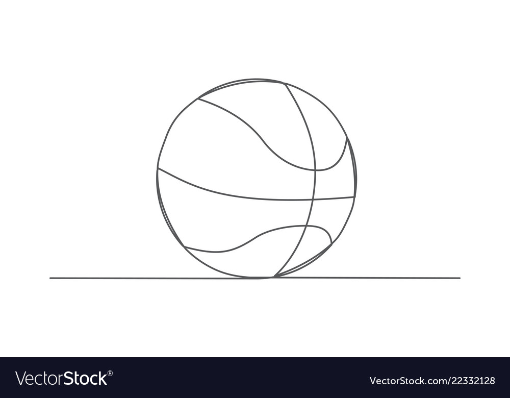 Basketball one line drawing