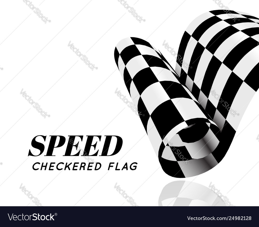 Checkered race flag isolated