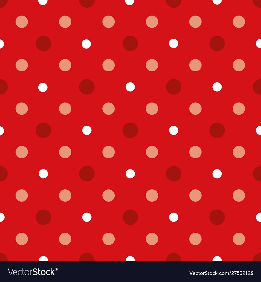 Christmas and white polka dots seamless