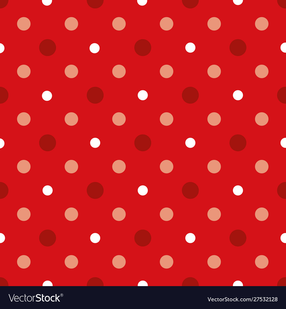 Christmass red and white polka dots seamless
