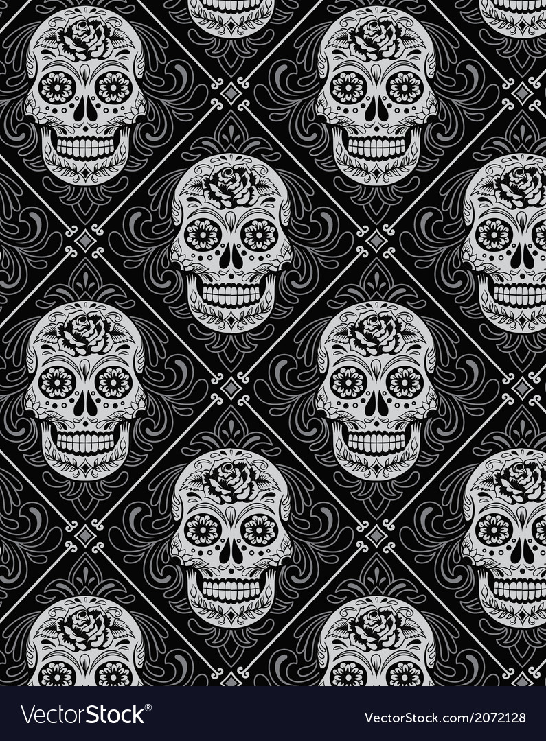 Day dead seamless pattern
