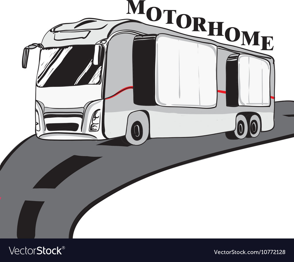 Hand drawn Doodle cars Recreational Vehicles