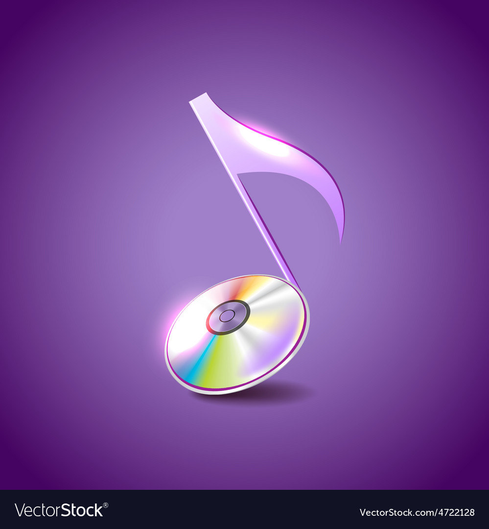 Music note like compact disc background