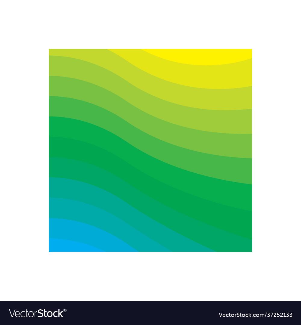 Green gradient background icon design template