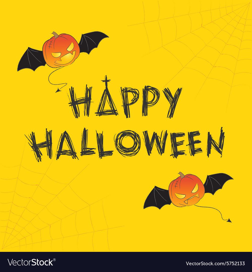Happy Halloween Theme Royalty Free Vector Image