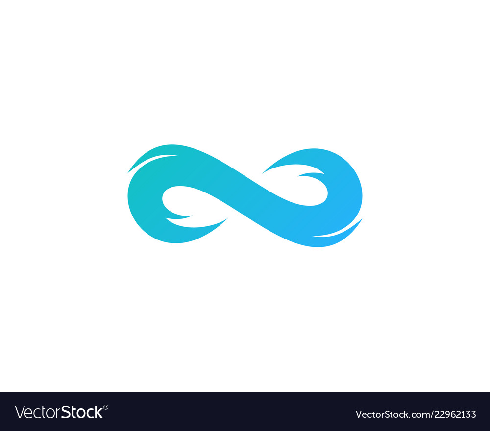 Infinite wave logo icon design